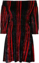 Sonia Rykiel off-shoulder velvet dress