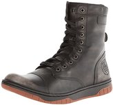 Diesel Men's Tatradium Basket Butch Zip Combat Boot, Black/Gum Sole, 7 M US