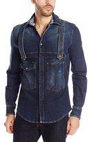 Vivienne Westwood Men's Industrial Bib Button Up Shirt