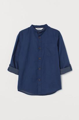 H&M Band-collar Shirt