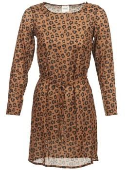 Petite Mendigote JOSEPHINE women's Dress in Brown