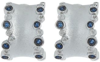 Effy Sterling Silver Crystal Hoop Earrings