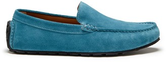 Hugs & Co Tyre Sole Driving Loafers Petrol Blue Suede