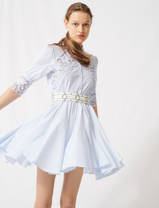 Maje Skater dress with tie belt