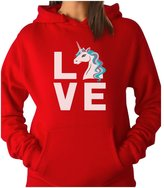 TeeStars - I Love Unicorns - Magical Gift For Unicorn Lovers Women Hoodie