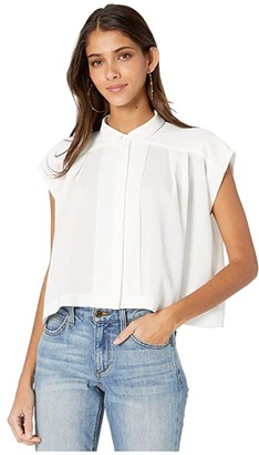 Bishop + Young Chloe Crop Top (White) Women's Clothing