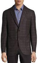 Pal Zileri Modern-Fit Windowpane Virgin-Wool Sportcoat