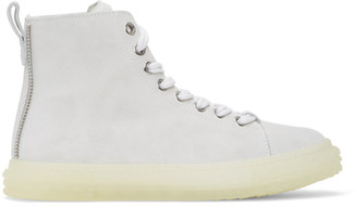 Giuseppe Zanotti Off-White Nubuck Blabber Jellyfish High-Top Sneakers