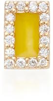 Alison Lou Rectangle 14K Yellow Gold and Diamond Stud Earrings