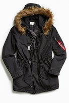 Alpha Industries J-4 Fishtail Faux Fur Parka Jacket