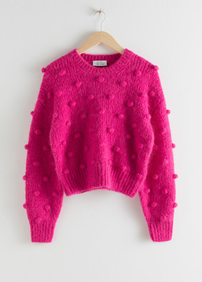 And other stories Alpaca Wool Knit Bobble Sweater