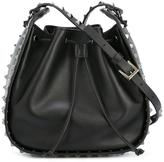 Valentino sudded bucket shoulder bag - women - Leather - One Size