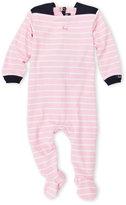 Coccoli Newborn/Infant Girls) Pink Stripe Footie