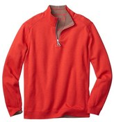 Tommy Bahama 'Flip Side' Reversible Twill Quarter Zip Pullover (Big & Tall)