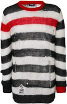 Diesel distressed striped sweater