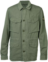 Belstaff cargo pocket shirt jacket - men - Cotton/Linen/Flax/Acetate - 48