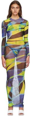 Louisa Ballou Blue and Yellow High Tide Dress