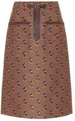 Gucci x Disney GG jacquard midi skirt