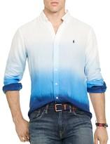 Polo Ralph Lauren Ombré Linen Regular Fit Button Down Shirt