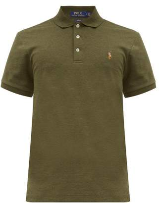 Polo Ralph Lauren Slim-fit Embroidered-logo Polo Shirt - Mens - Green