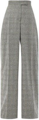 J.W.Anderson Prince Of Wales-check Wool-blend Suit Trousers - Grey