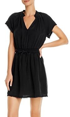 Bella Dahl Frayed Smocked-Waist Dress