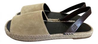 Loewe Beige Suede Sandals