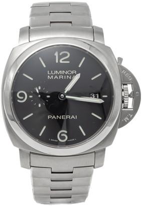 Panerai Black Luminor 1950 Pam 328 Limited Edition Steel Men's Watch 44MM