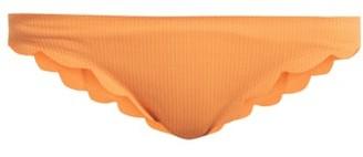 Marysia Swim Broadway Scallop-edged Bikini Briefs - Womens - Orange