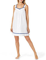Eileen West Dotted Ribbon-Trimmed Chemise