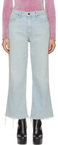 Alexander Wang Blue Cropped Loose Kick Jeans