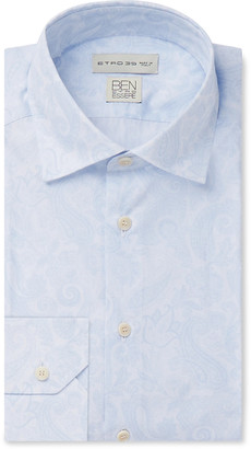 Etro Paisley-Print Organic Cotton-Poplin Shirt