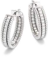 Saks Fifth Avenue Diamond & 14K White Gold Hoop Earrings