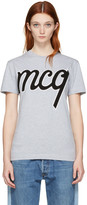 McQ by Alexander McQueen Grey Logo Classic T-Shirt