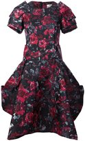 Comme des Garcons rose print structured dress - women - Silk/Polyester - S