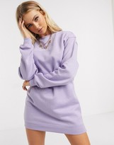 Daisy Street oversized sweater dress with embroidery in lilac