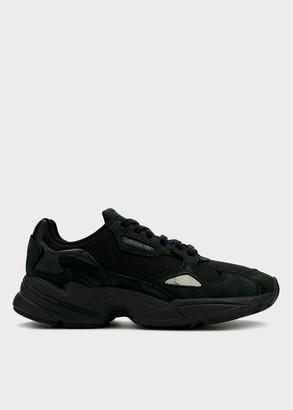adidas Women's Falcon W in Core Black/Core Black/Grey Five Shoes, Size 9   Leather