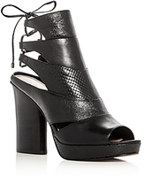 Donald J Pliner Juno Leather High Heel Platform Sandals