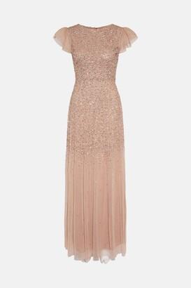Coast Angel Sleeve Sequin Maxi Dress