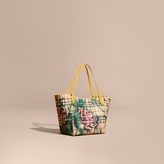 Burberry The Small Canter in Peony Rose Print Haymarket Check