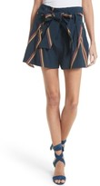 Tanya Taylor Women's Jimi Embroidered Linen Blend Shorts