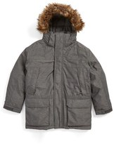 The North Face 'McMurdo' Waterproof Down Parka with Faux Fur Trim (Big Boys)