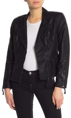 Blank NYC BLANKNYC Denim Faux Leather Vegan Moto Jacket
