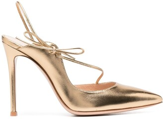 Gianvito Rossi Irene metallic point-toe pumps