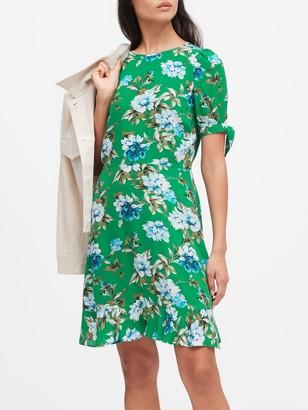 Banana Republic ECOVERO Puff-Sleeve Dress