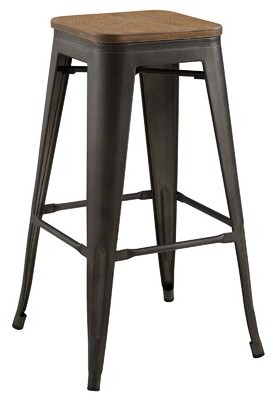 "17 Stories Herlinda Promenade 30"" Bar Stool Color: Brown"