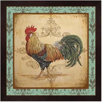 Metaverse Art Cock-A-Doodle-Doo Rooster Framed Wall Art