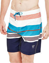 Guess Woven Striped Long Swim Shorts