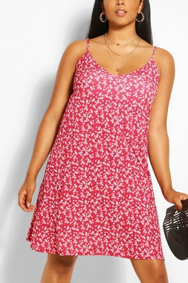 boohoo Plus Floral Cami Mini Dress