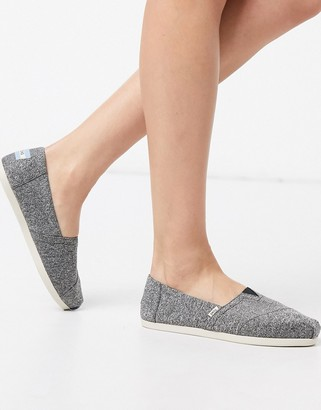 Toms Alpargata Earthwise vegan recycled flat shoes in grey